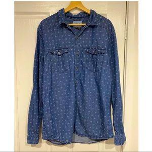 Billabong Men's denim shirt size L